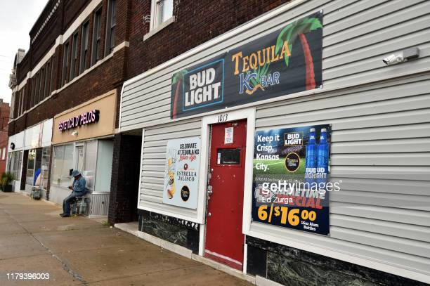 A general view of the entrance to Tequila KC bar were 9 people were shot and four killed on October 06 2019 in Kansas City Kansas According to Kansas...