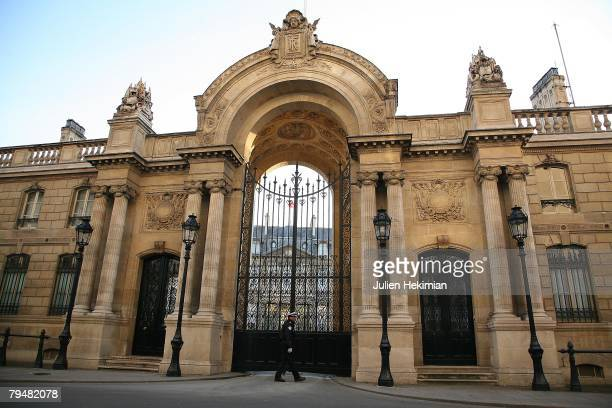 General view of the entrance to the Elysee Palace, where French President Nicolas Sarkozy married partner Carla Bruni, on February 2, 2008 in Pars,...