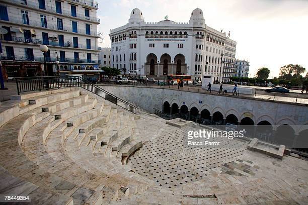 A general view of the entrance to the Metro on Mohamed Khemisti Boulevard December 6 2007 in Algiers Algeria In the back ground is La Grande Poste...