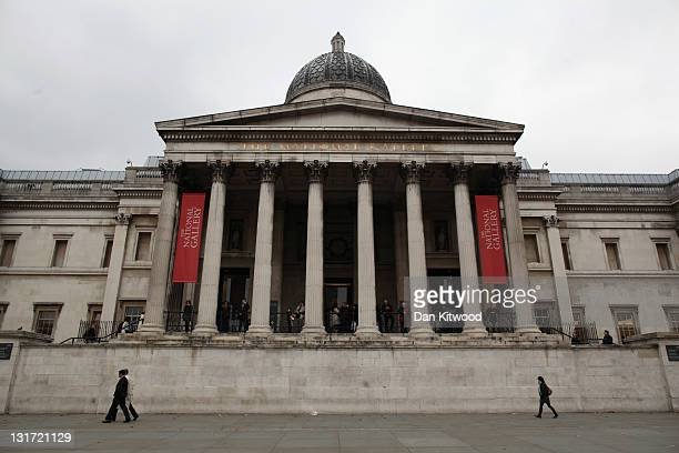 A general view of the entrance to The National Gallery on November 7 2011 in London England A major exhibition by painter Leonardo da Vinci 'Leonardo...