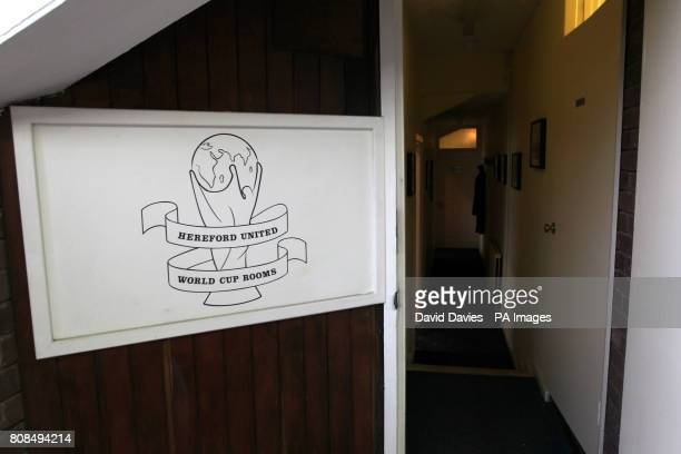 General view of the entrance to the world cup rooms at Edgar Street home of Hereford United FC