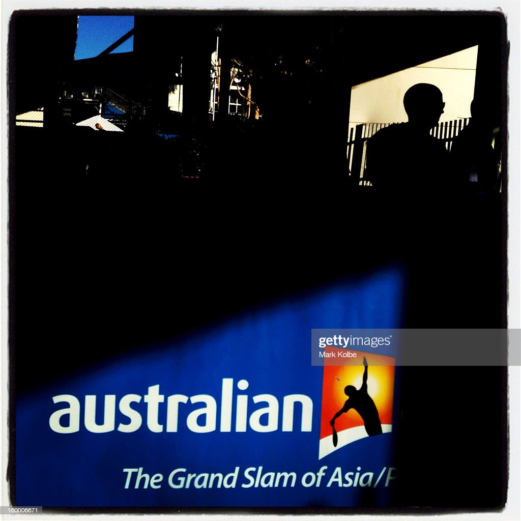 A general view of the entry gates ahead of the evening session on day nine of the 2013 Australian Open at Melbourne Park on January 22, 2013 in Melbourne, Australia.