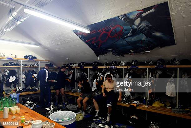 General view of the Espoo locker room after the IIHF Champions Hockey League match between SC Bern and Espoo Blues at the PostFinance Arena on...