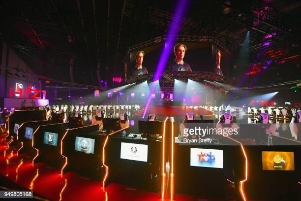A general view of the Esports arena during opening weekend of the Twin Galaxies H1Z1 Pro League At Caesars Entertainment Studios on April 21 2018 in...
