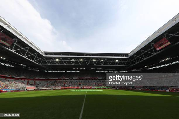General view of the EspritArena during the Second Bundesliga match between Fortuna Duesseldorf and FC Ingolstadt 04 at EspritArena on April 22 2018...