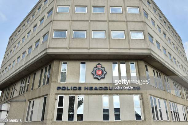 General view of the Essex Police Headquarters building on October 31, 2019 in Chelmsford, Essex, England.