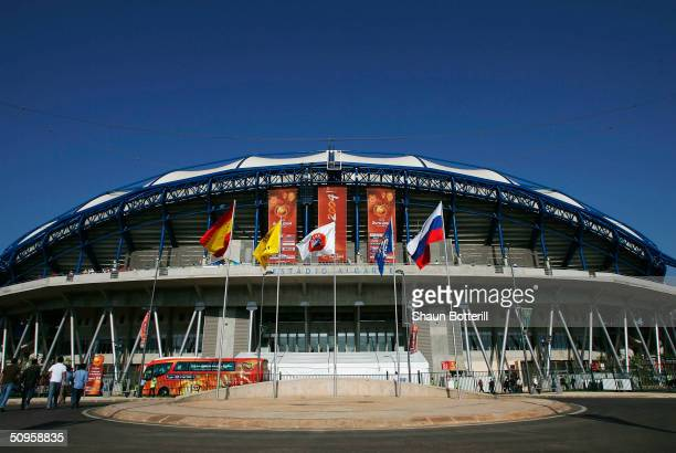 General view of the Estadio Algarve prior to the Spain v Russia Group A match in the 2004 UEFA European Football Championships at the Estadio Algarve...