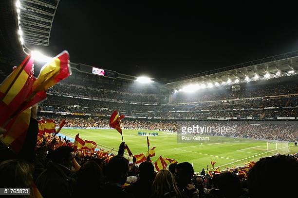 A general view of the Estadio Bernabeu prior to the international friendly match between Spain and England on November 17 2004 at the Estadio...