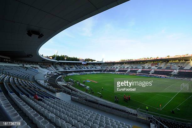 General view of the Estadio D Afonso Henriques home of Vitoria SC taken during the UEFA Europa League group stage match between Vitoria SC and HNK...