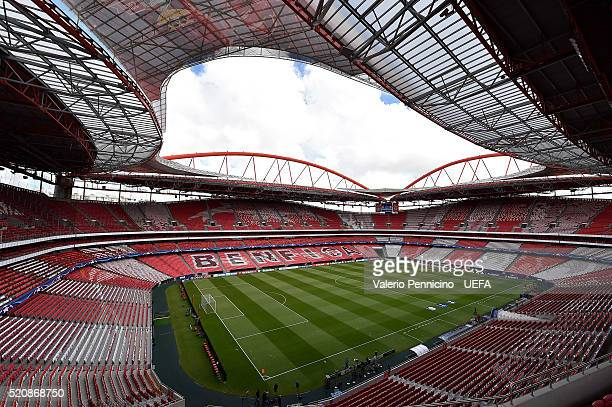 A general view of the Estadio da Luz prior to the UEFA Champions League quarter final second leg match between SL Benfica and FC Bayern Muenchen at...