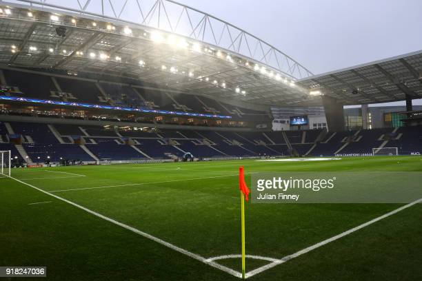A general view of the Estadio do Dragao ahead of the UEFA Champions League Round of 16 First Leg match between FC Porto and Liverpool at Estadio do...
