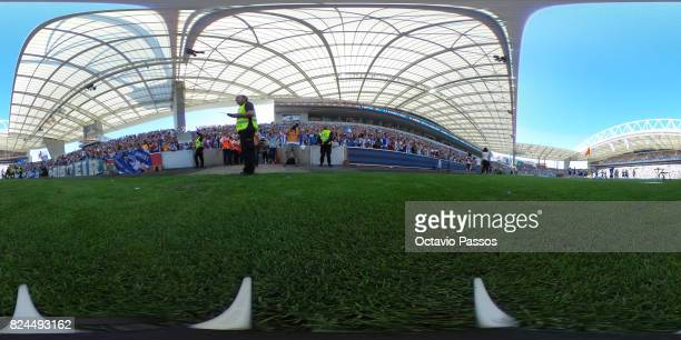 General view of the Estadio do Dragao during the team presentation prior to the preseason friendly match between FC Porto and RC Deportivo La Coruna...