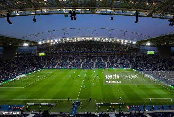 General view of the Estadio do Dragao during the UEFA Champions League Final between Manchester City and Chelsea FC at Estadio do Dragao on May 29,...