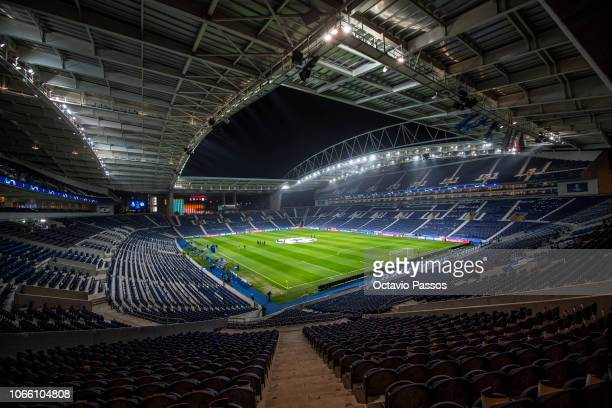 General view of the Estadio do Dragao prior the Group D match of the UEFA Champions League between FC Porto and FC Schalke 04 at Estadio do Dragao on...