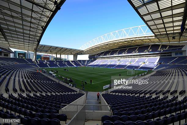 General view of the Estadio do Dragao taken during the UEFA Champions League playoff first leg match between FC Pacos de Ferreira and FC Zenit St...