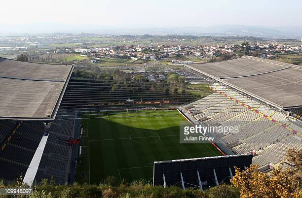 A general view of the Estadio Municipal de Braga on March 10 2011 in Braga Portugal