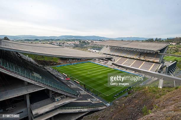 A general view of the Estadio Municipal de Braga prior to the UEFA Europa League Quarter Final first leg match between SC Braga and Shakhtar Donetsk...