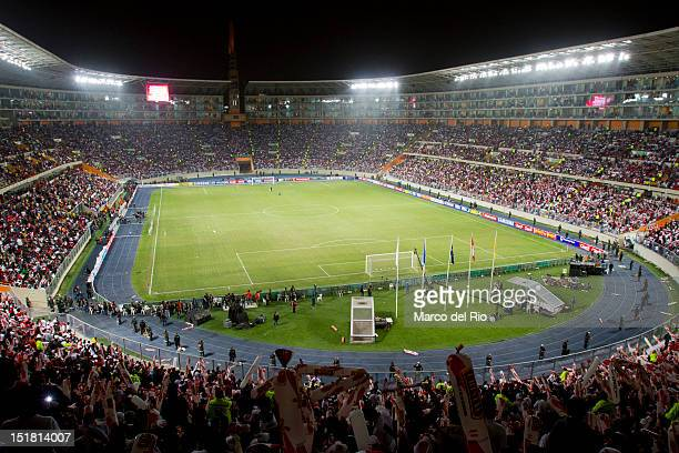 General view of the Estadio Nacional during the match between Argentina and Peru as part of the South American Qualifiers for Brazil 2014 on...