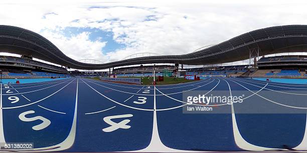 General view of the Estadio Olimpico Joao Havelange before the Ibero American Athletics Championships Aquece Rio Test Event for the Rio 2016 Olympics...