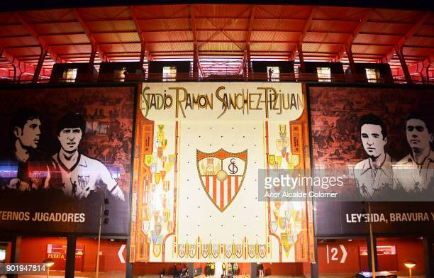 A general view of the Estadio Ramon Sanchez Pizjuan ahead of the La Liga match between Sevilla FC and Real Betis Balompie on January 6 2018 in...