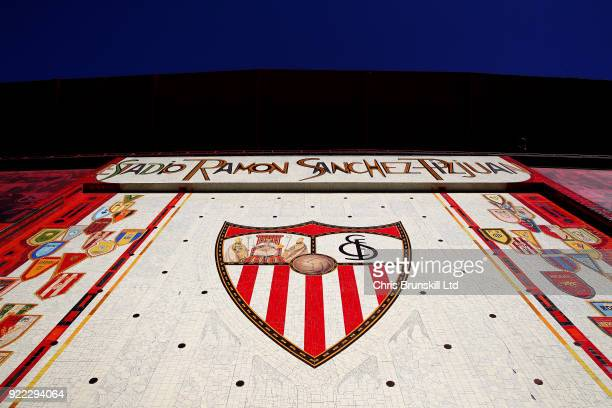 A general view of the Estadio Ramon Sanchez Pizjuan ahead of the UEFA Champions League Round of 16 First Leg match between Sevilla FC and Manchester...