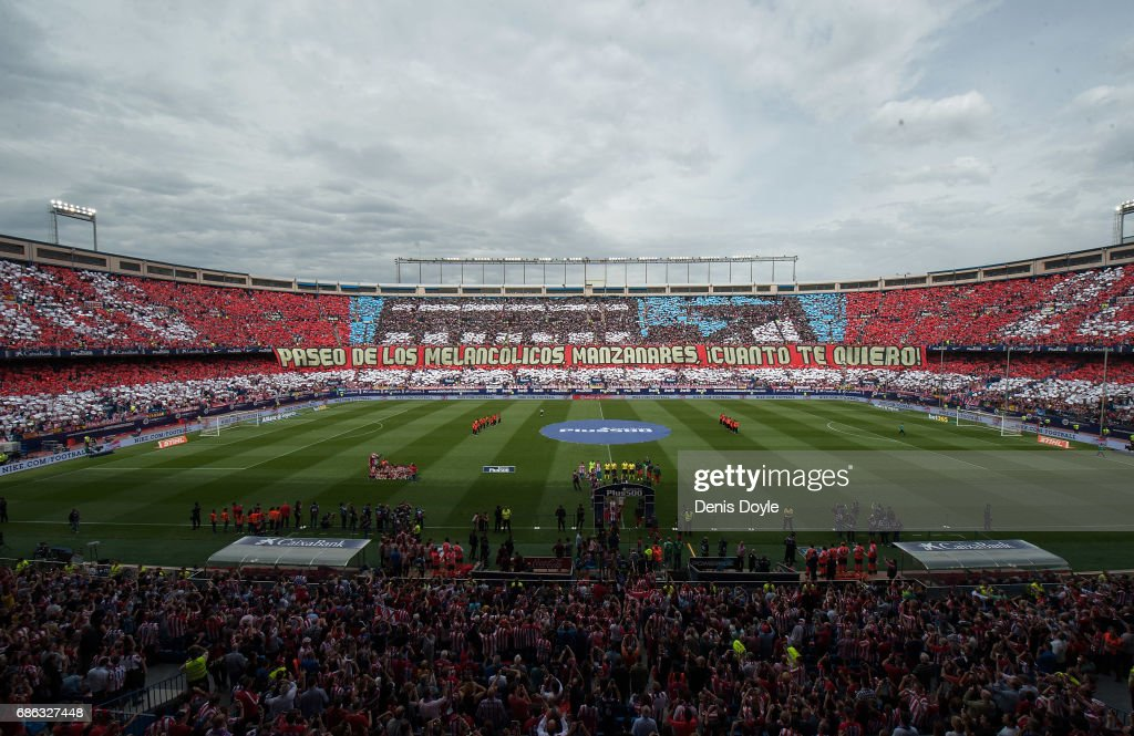 General view of the estadio Vicente Calderon stadium ahead of the La Liga match between Club Atletico de Madrid and Athletic Club Bilbao at Vicente Calderon stadium on May 21, 2017 in Madrid, Spain.