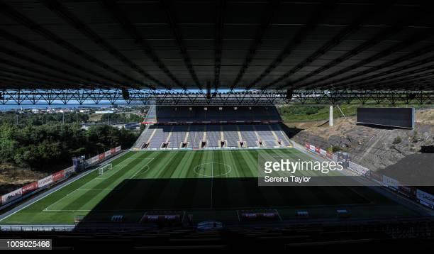 A general view of the Estádio Municipal de Braga during a pre season friendly between Sporting Braga and Newcastle United at the Estádio Municipal de...
