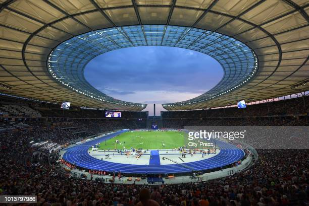 A general view of the European Athletics Championships at Olympiastadion on august 8 2018 in Berlin Germany