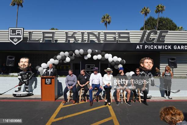 A general view of the event is seen during the LA Kings Pickwick Ice Center Grand ReOpening at LA Kings Pickwick Ice Center on August 14 2019 in...