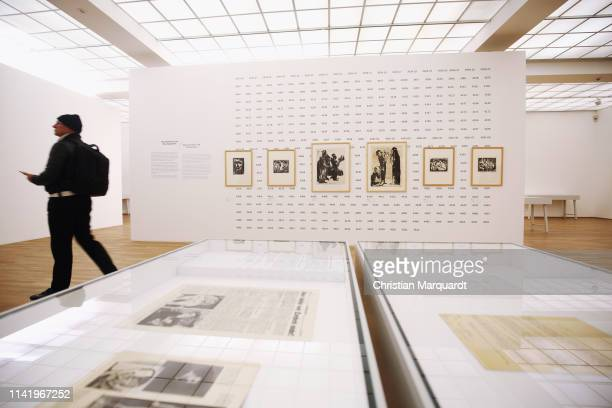 "General view of the exhibition during the preview of the exhibition ""Emil Nolde - Eine deutsche Legende. Der Kuenstler im Nationalsozialismus"" at..."