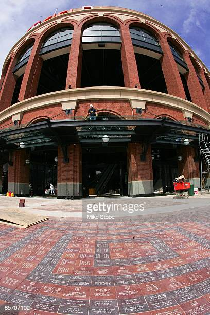 A general view of the exterior and fan wak of Citi Field on March 25 2009 in the Flushing neighborhood of the Queens borough of New York City
