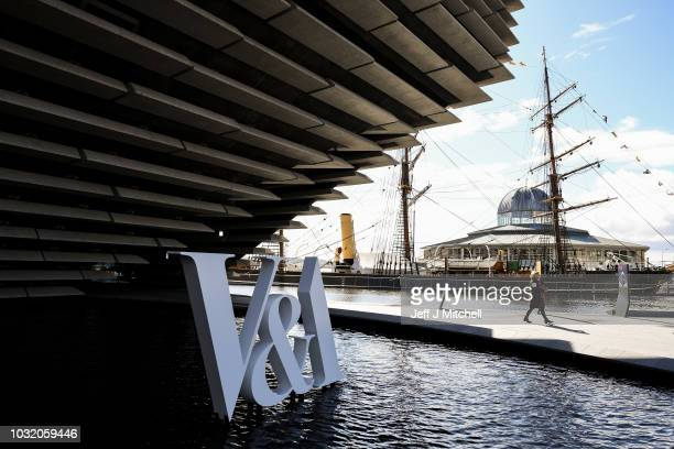 A general view of the exterior during the press preview of the new VA museum of Design by Japanese architect Kengo Kuma on September 12 2018 in...
