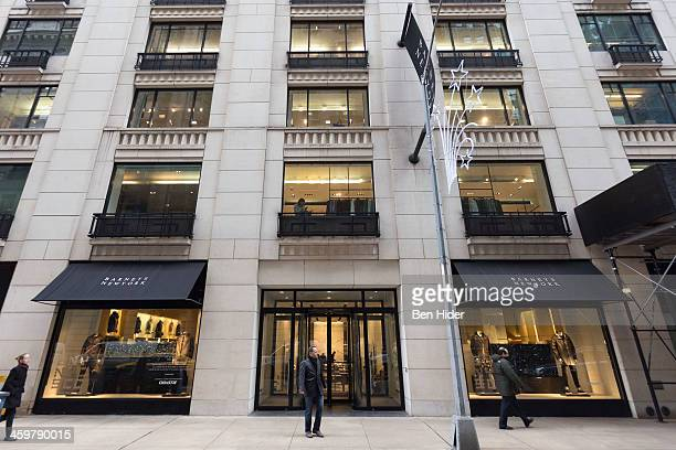 A general view of the exterior facade of Barneys New York flagship clothing store on December 30 2013 in New York City