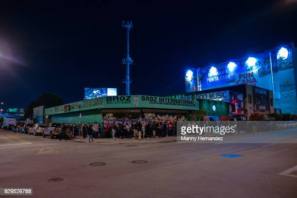 General view of the exterior for Apple Music Celebrates 'Up Next' Artist Bad Bunny with a concert for fans at Bar 1306 in Miami Florida on March 8...