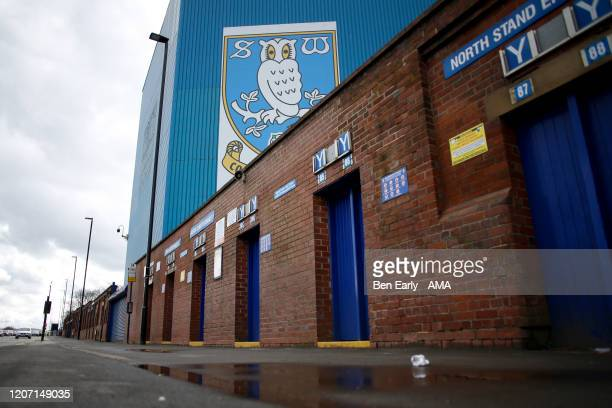 MARCH A general view of the exterior of a deserted Hillsborough stadium the home of Sheffield Wednesday on March 14 2020 in Sheffield England The...
