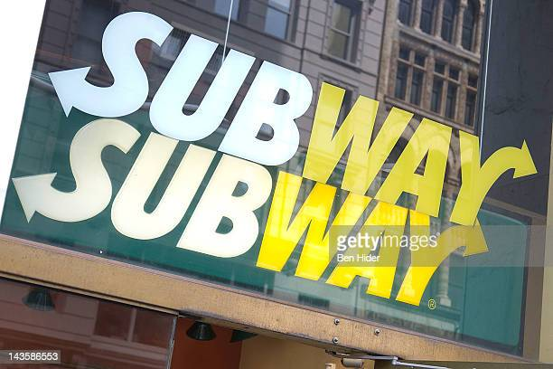General view of the exterior of a Subway fastfood Sandwich Shop on April 24, 2012 in New York City.