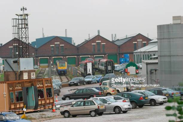 General view of the exterior of Alstom's Washwood Heath works in Birmingham birthplace of many of the latest modern trains such as Juniper Coradia...