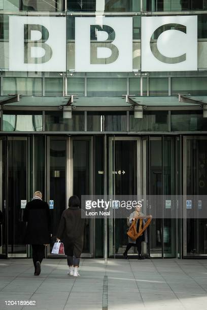 General view of the exterior of BBC Broadcasting House on February 05, 2020 in London, England. The BBC has announced that it will be increasing the...