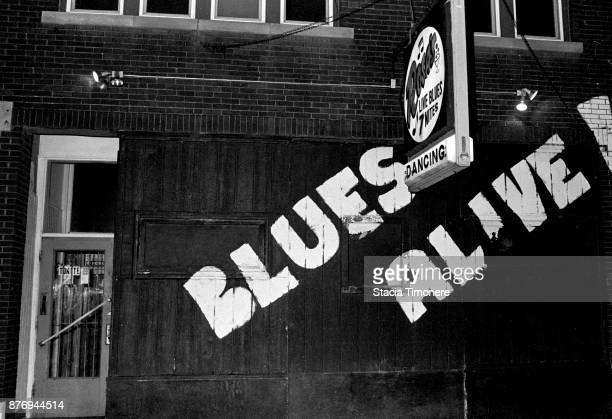 General view of the exterior of blues music venue Rosa's Lounge in Chicago Illinois United States on February 19 1992