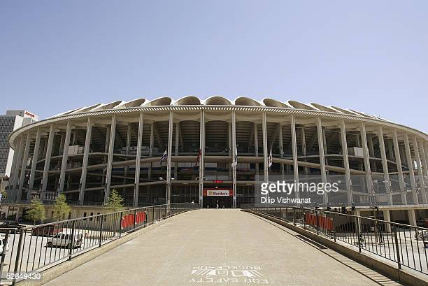 General view of the exterior of Busch Stadium on April 14 2005 in St Louis Missouri