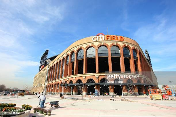 General view of the exterior of Citi Field on March 25, 2009 in the Flushing neighborhood of the Queens borough of New York City.