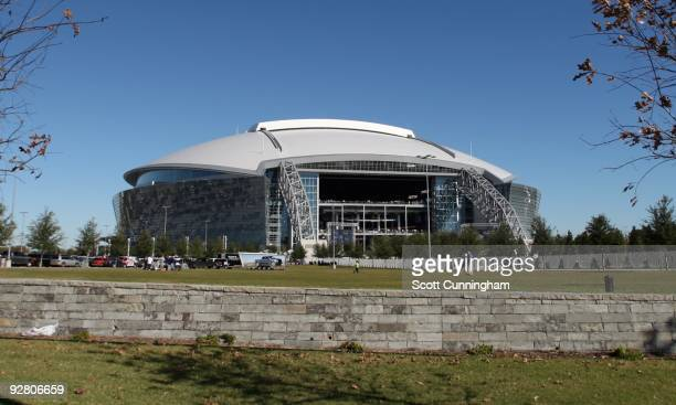General view of the exterior of Cowboys Stadium before the game between the Dallas Cowboys and the Seattle Seahawks on November 1, 2009 in Arlington,...