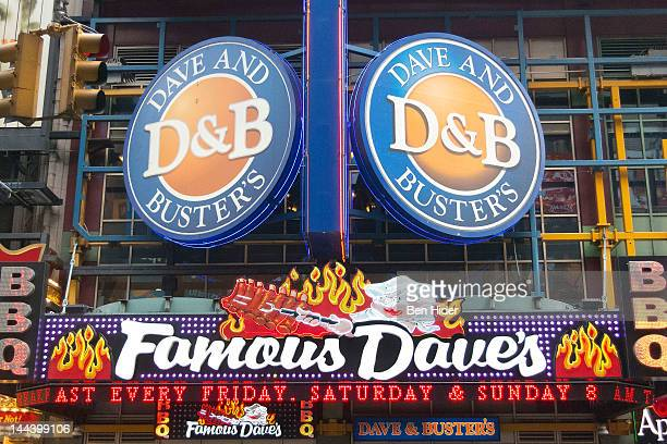 General view of the exterior of Dave & Buster's Restaurant, Bar and Arcade on May 13, 2012 in New York City.