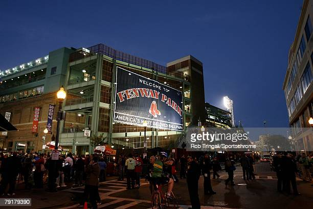 General view of the exterior of Fenway Park before a game between the Boston Red Sox and he Colorado Rockies during Game Two of the 2007 Major League...