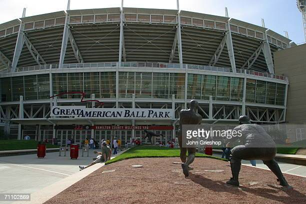 General view of the exterior of Great American Ball Park in Cincinnati, Ohio on April 19, 2006.