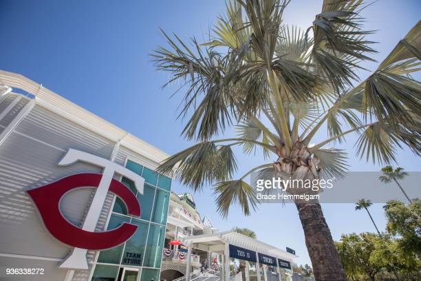 A general view of the exterior of Hammon Stadium prior to a spring training game between the Minnesota Twins and Baltimore Orioles on March 13 2018...