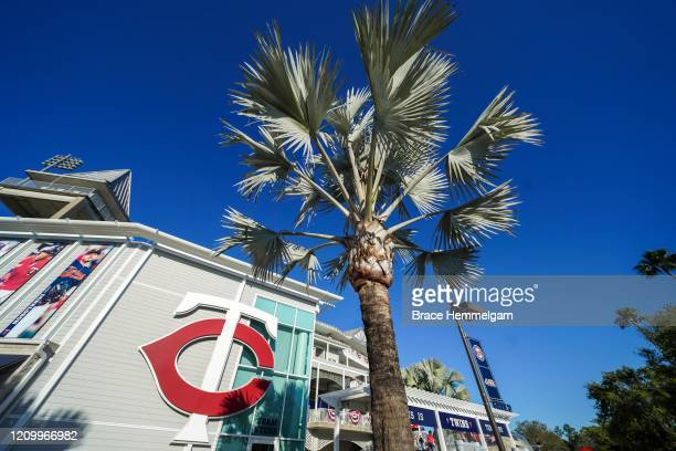General view of the exterior of Hammond Stadium prior to a spring training game between the Minnesota Twins and Pittsburgh Pirates on February 29,...