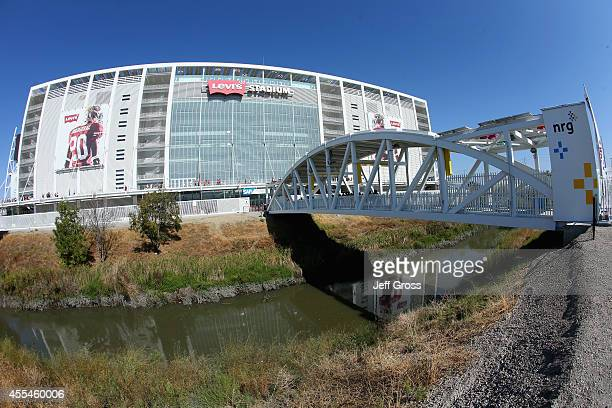 General view of the exterior of Levi's Stadium is seen prior to the start of the game between the San Francisco 49ers and the Chicago Bears on...