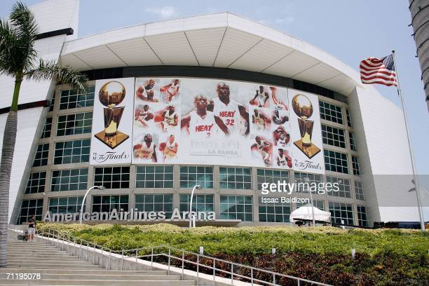 A general view of the exterior of the American Airlines Arena is seen prior to Game Three of the 2006 NBA Finals between the Miami Heat and the...