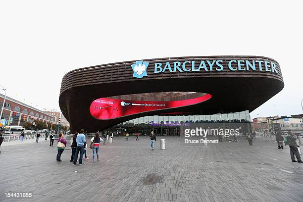 General view of the exterior of the Barclay Center prior to the preseason game between the Philadelphia 76ers and the Brooklyn Nets on October 19,...